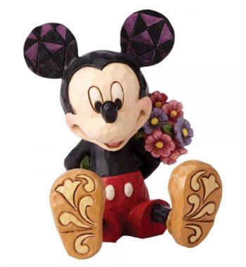 Mickey Egér Virágokkal Mini Figura