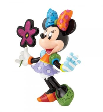 Minnie Egér Virágokkal Figura