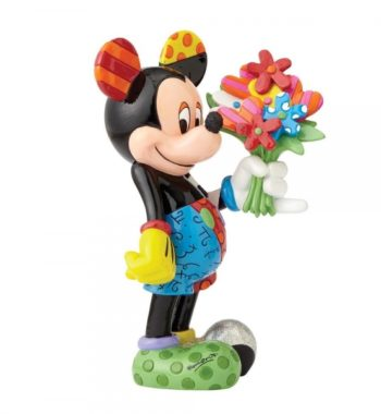 Mickey Egér Virágokkal Figura