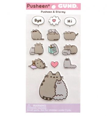 Pusheen bolt - Pusheen és Stormy Matricák
